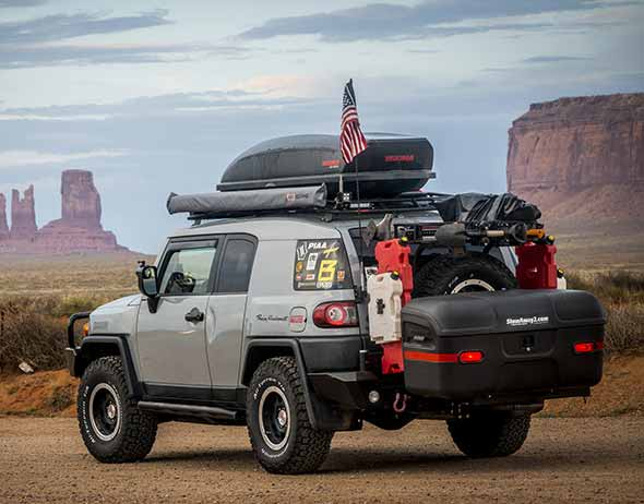 Toyota FJ Cruiser with StowAway MAX Cargo Carrier